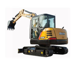 sany sy55 excavator 5.5 ton Mini Digger Hydraulic Excavators tree planting digging machines hole digger