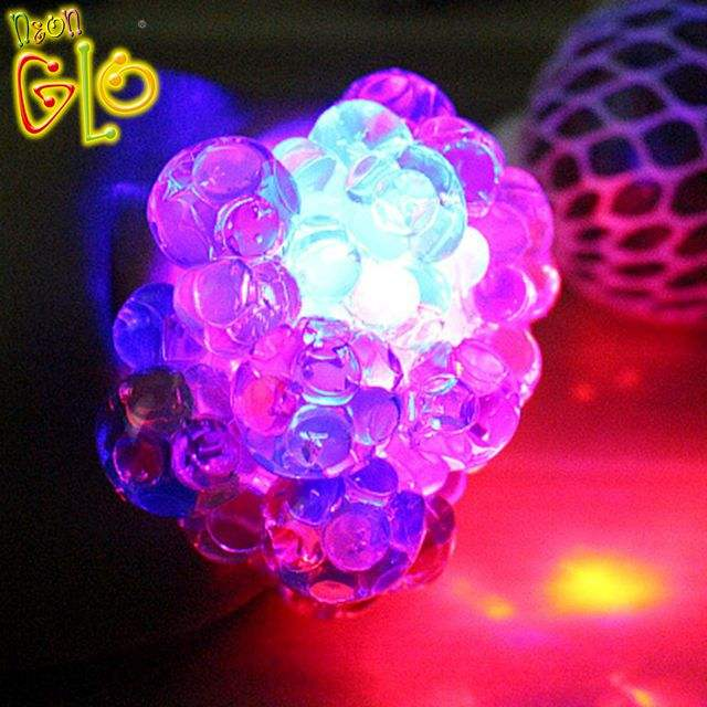 Adult Favor Cheap LED Stress Ball with Rainbow light