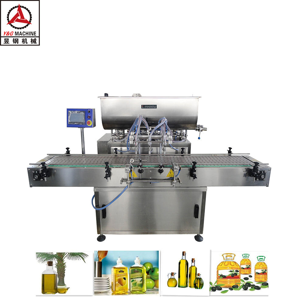 automatic coconut oil and corn oil packaging filling machine with bottle