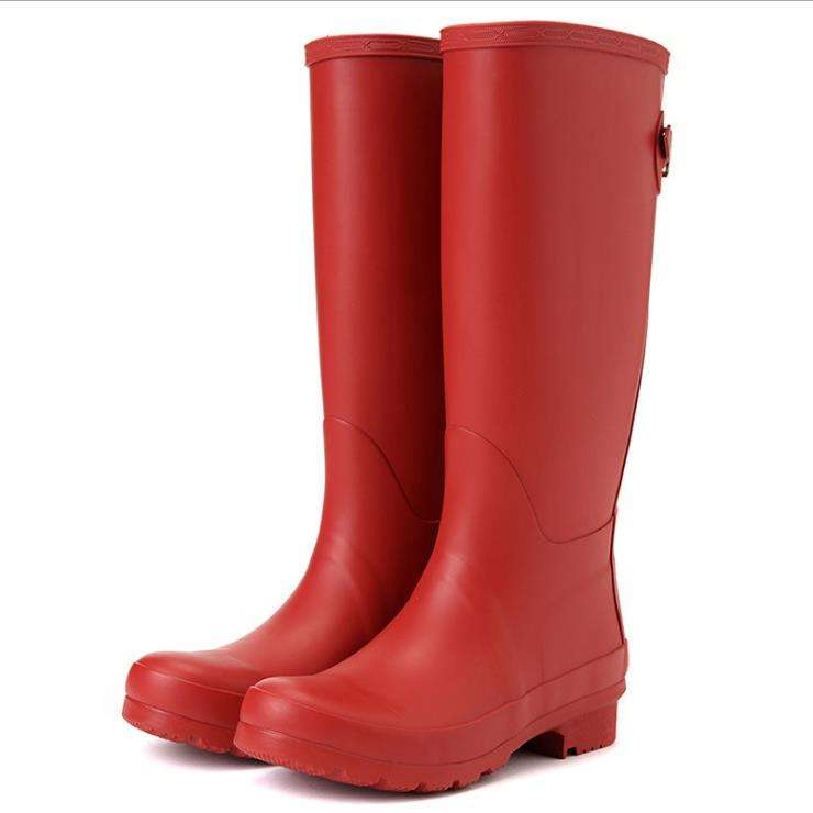 Good Quality Fashion Design Lady Wellinton Boots Women Rubber Rain Boot For Wholesale