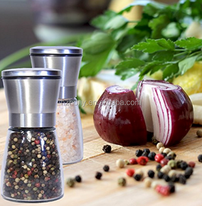 Best Salt and Pepper Grinder Set - Premium Brushed Stainless Steel Adjustable Coarseness Kitchen To Table Use