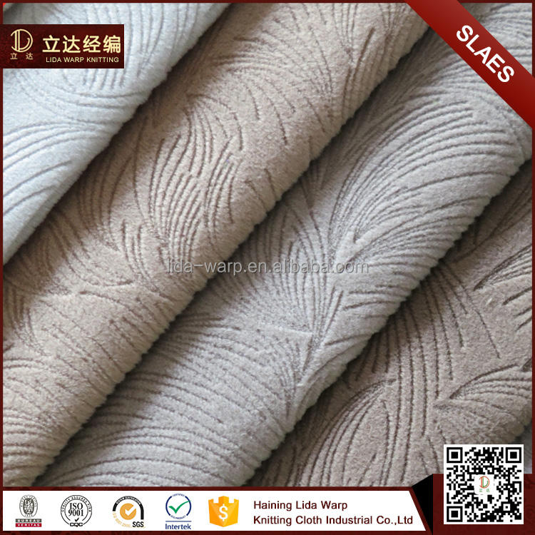 Ucuz Fiyat 100% Polyester Mikrofiber Tc Destek Tek Renk Burn Out Kumaş