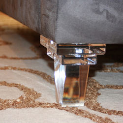 Modern Design Custom Clear Acrylic Sofa Feet Lucite Furniture Legs