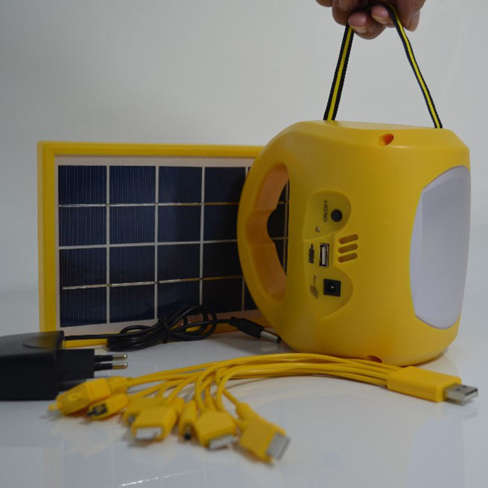 Rechargeable solar camping lantern with cell phone charger