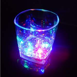 2020 New China Factory Manufacturer Holiday Decoration Party Led Flashing Kid Light Up Glass Cup