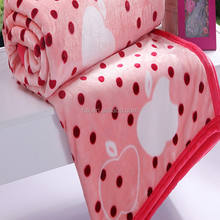 cheap double animal printed plush mink blankets wholesale