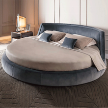 Round Shape New modern design furniture comfortable simple latest double bed wooden  bedroom furniture round bed modern