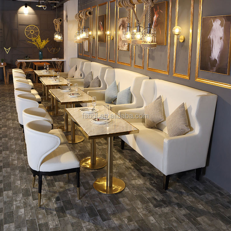 modern restaurant leather round high back sofa booth seating furniture wooden dining tables and chairs coffee shop chair