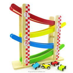 Wooden Kids Cars Racing Track Educational Wooden toys