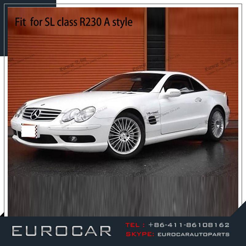 Unpainted Mercedes BENZ R230 2D V Style Trunk Spoiler SL55AMG SL350 03-11