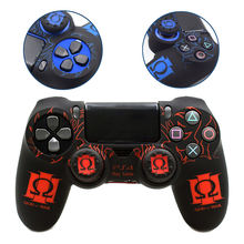 PS4 Controller Wireless Joystick Pattern Skin Cover Protective Silicone Color Case Soft Touch for Sony Playstation 4 Pro Slim