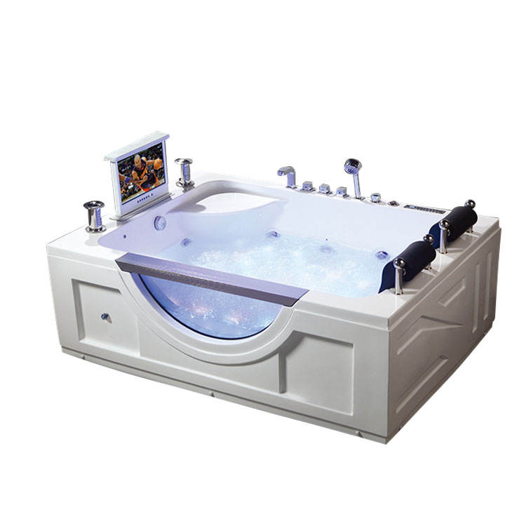 tubs for adult double seat massage bath tub with tv