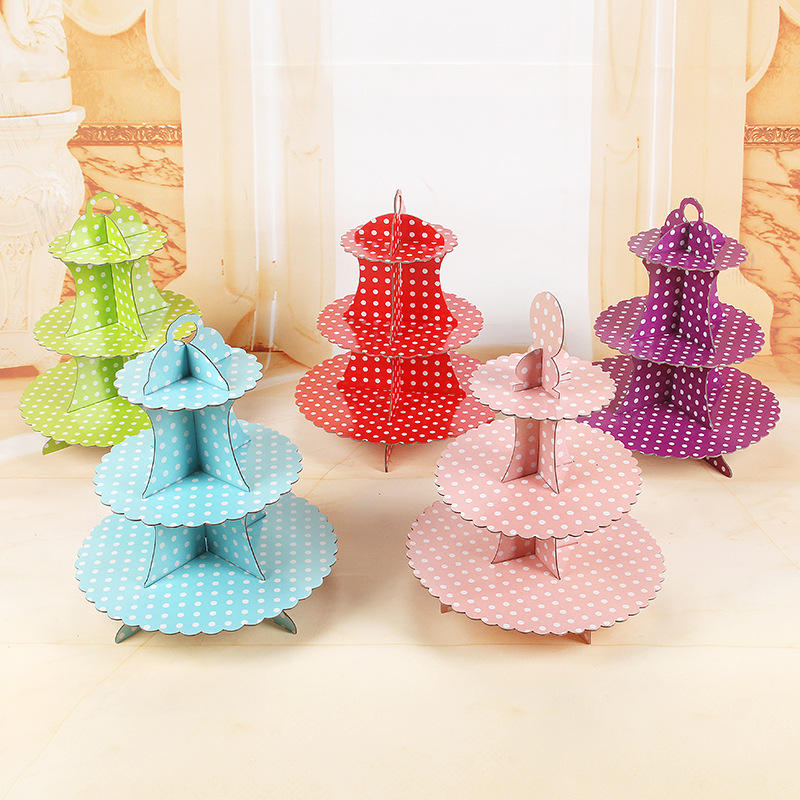 DIY 3-Tier Cupcake Cardboard Stand cake stand party decorations cake pan Dessert Stand Cupcake Tower Cupcake Tree Display