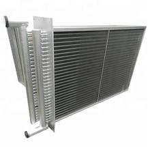 Stainless steel fin and tubing heat exchanger coil