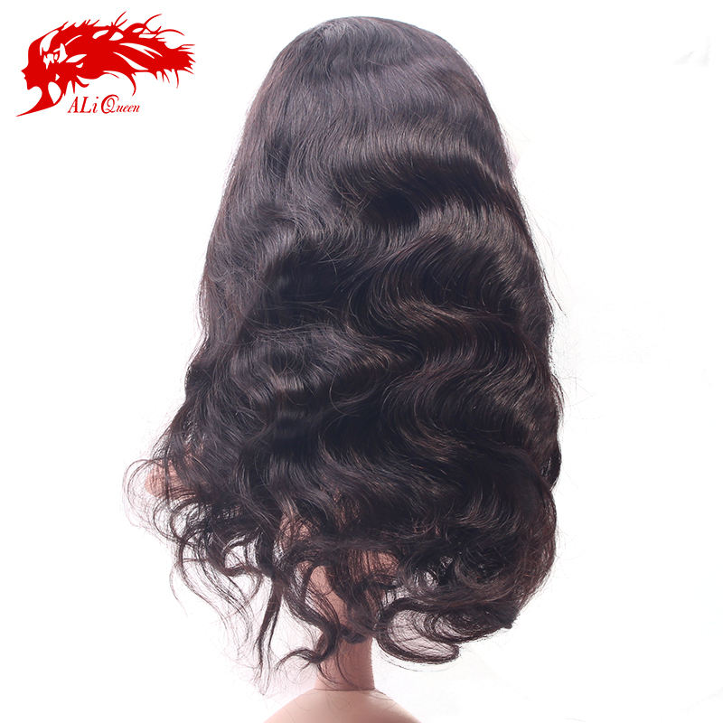 Factory price brazilian human hair full lace wig body wave