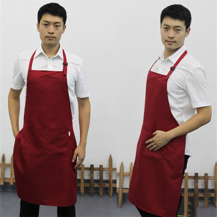adult men adjustable aprons multi-colour working clothes cooking waiter adjustable apron