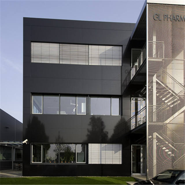 4'X8'ft Dark Black Glossy Covered Customized Alucobond Aluminum Composite Panels acp/acm sheet for building decoration