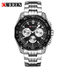 CURREN 8077 Hot Selling Mens Watches Analog Quartz Business Classic Trendy Stainless Steel Men Watch OEM