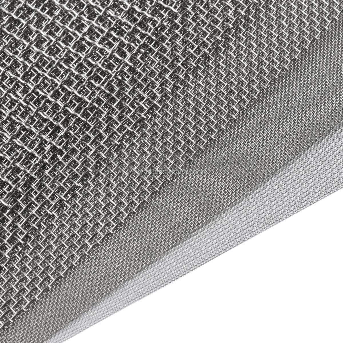 High quality super fine iron wire mesh 20 30 50 100 mesh stainless steel wire mesh