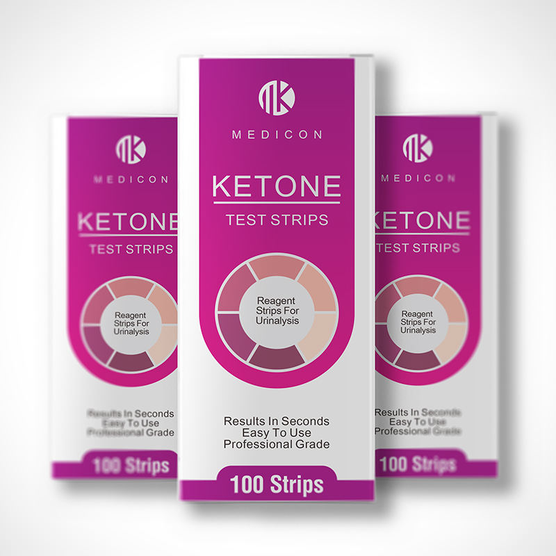 MDK 100x Ketone Strips, Urine Analysis for Ketogenic, Atkins, LCHF, Paleo, Diabetics, Diet Monitor Weight Loss Tracking Test