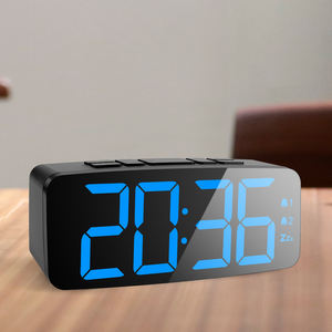 Amazon top seller 2018 LED backlight digital colored kitchen analog clock
