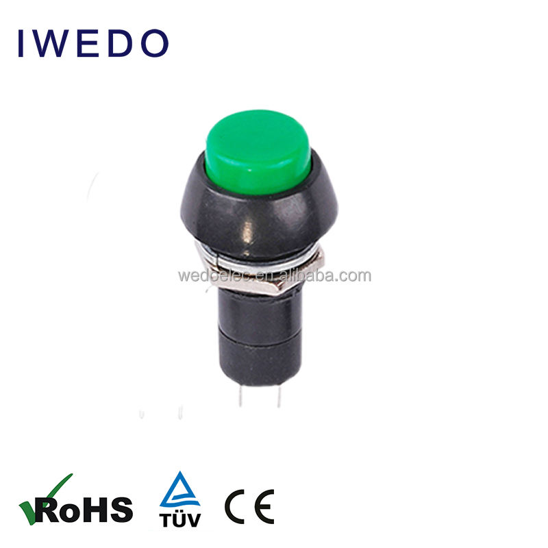 Small 12mm 3A 250V Round Horn Switch ON OFF PBS-11 Pushbutton Switch