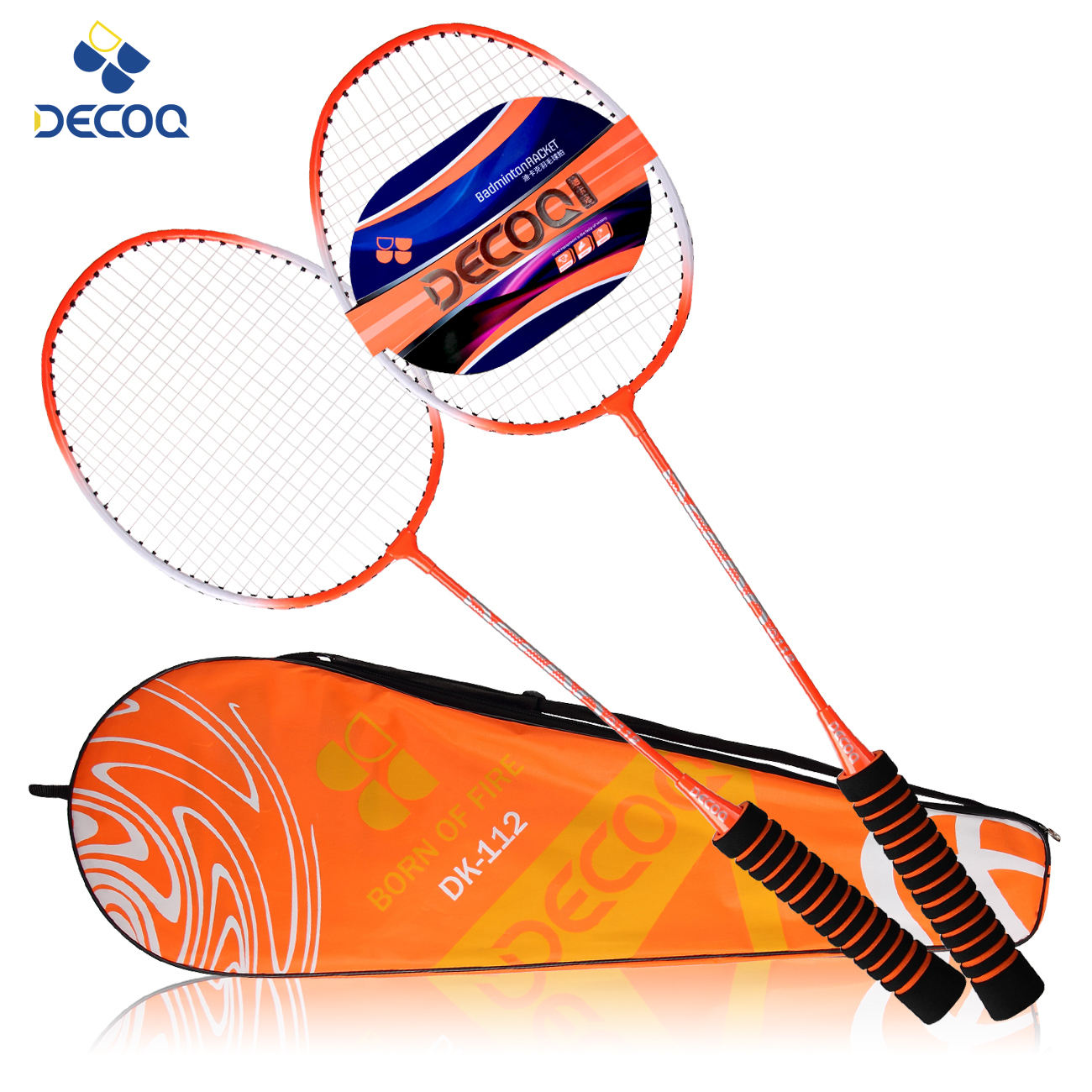 DECOQ Cheap Steel Alloy Badminton Racket With Foam Grip Wholesale Ball Badminton Racket