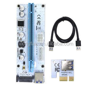VER008S 3 in 1 Mo-lex 4Pin SATA 6PIN PCIE PCI-E PCI Express Riser Card 1x to 16x USB 3.0 Cable For Mining Bitcoin Miner