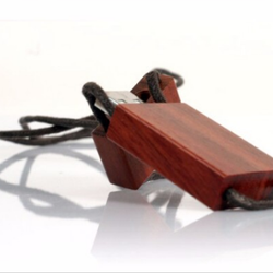 Hot sale wooden 4gb 8gb 16gb 32gb usb flash drives with own logo and leather necklace