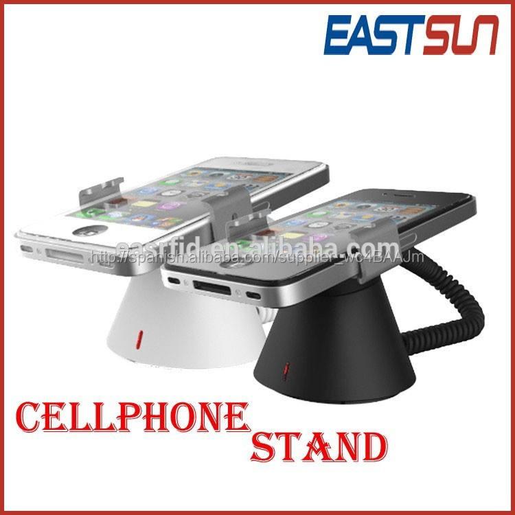 Blanco / negro de <span class=keywords><strong>alarma</strong></span> de seguridad del cargador del teléfono móvil del soporte de exhibición