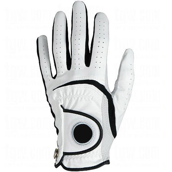 Fashionable pu cabretta golf gloves with ball mark