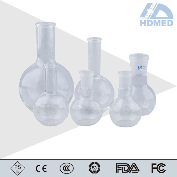 5-5000ml heat resistant borosilicate glass boiling flask round bottom