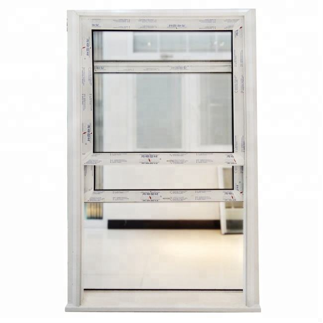 American style vertical sliding window/american style upvc window/bathroom sliding windows
