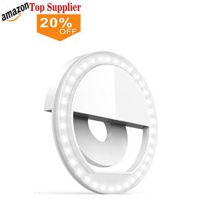 amazon best sellers Beauty Flash Led Selfie Ring Light Battery Operated Clip On Selfie
