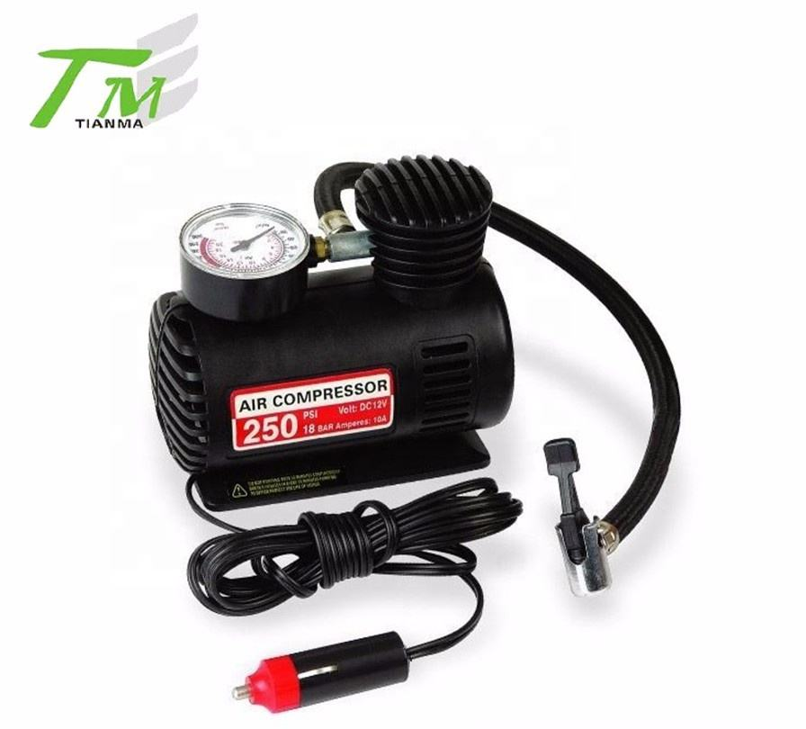 Mini car air compressor portable tire inflator auto type inflator