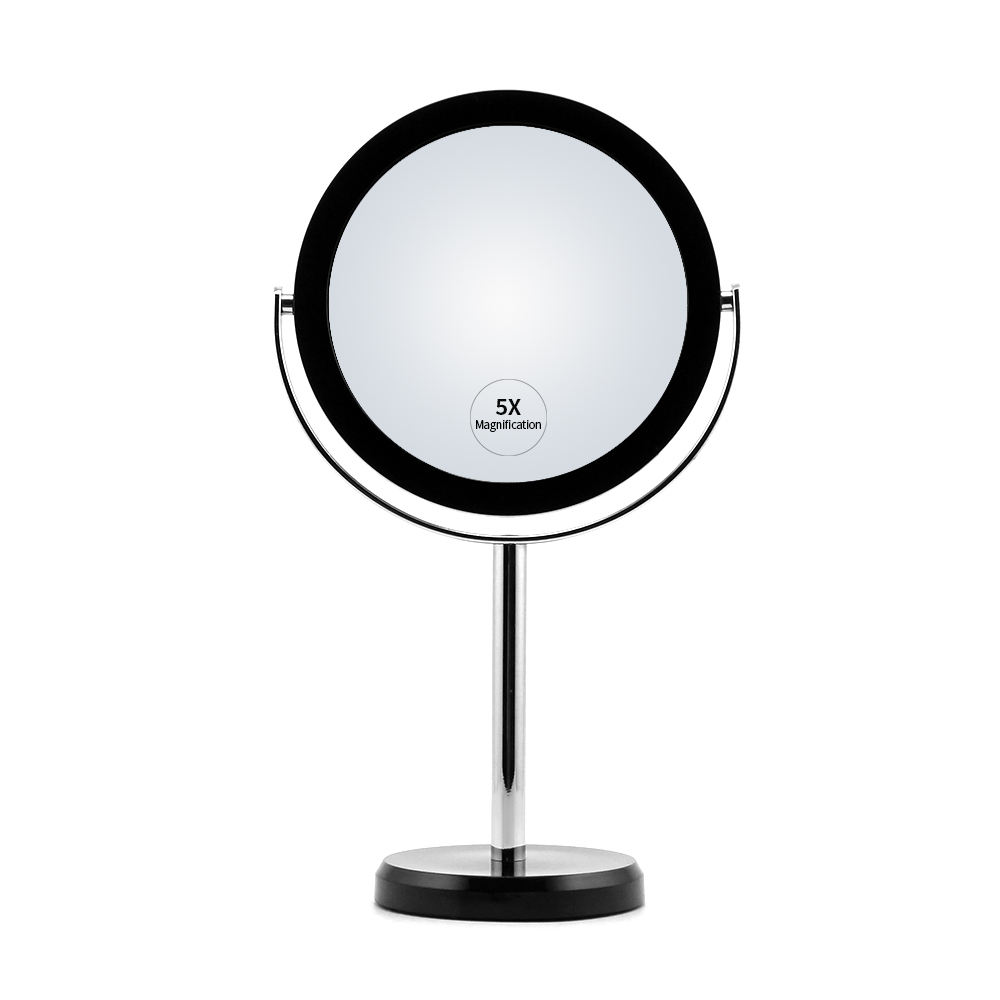 2-sided desktop vanity mirror for beauty makeup with metal stem