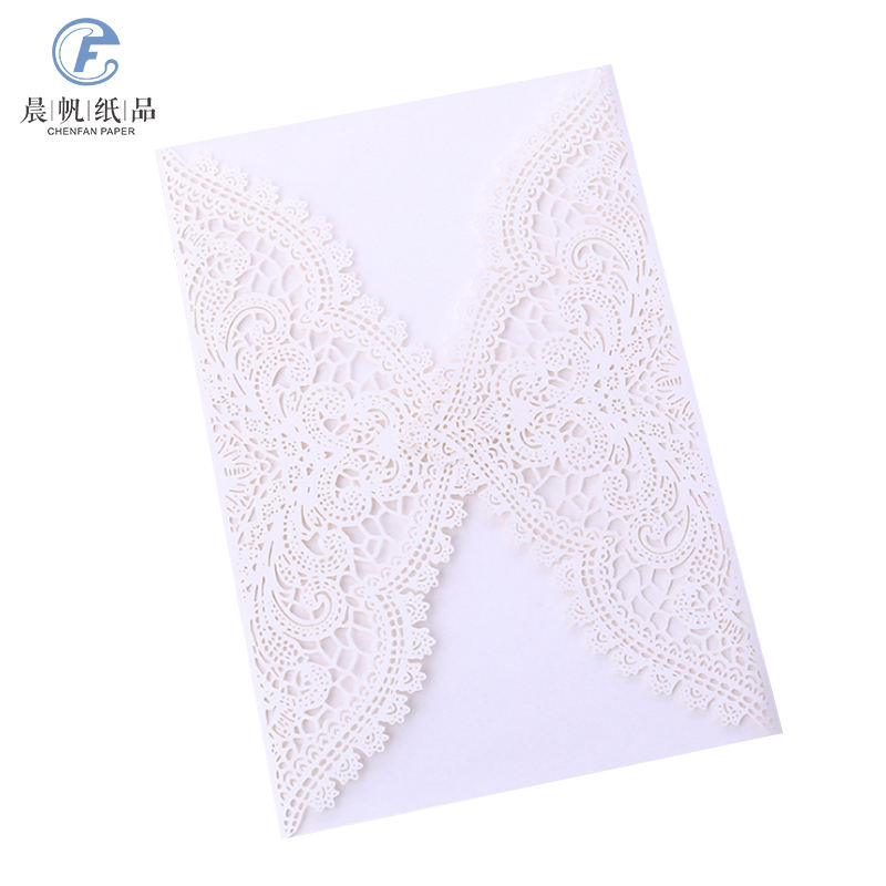 Picky Bride Lace Wedding Invitations Suite Elegant Laser Cut Invitation Wedding Cards