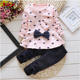 Aliexpress baby girls dresses hot style girl pure cotton long-sleeve two-piece sets with lotus leaf polka dot child suit