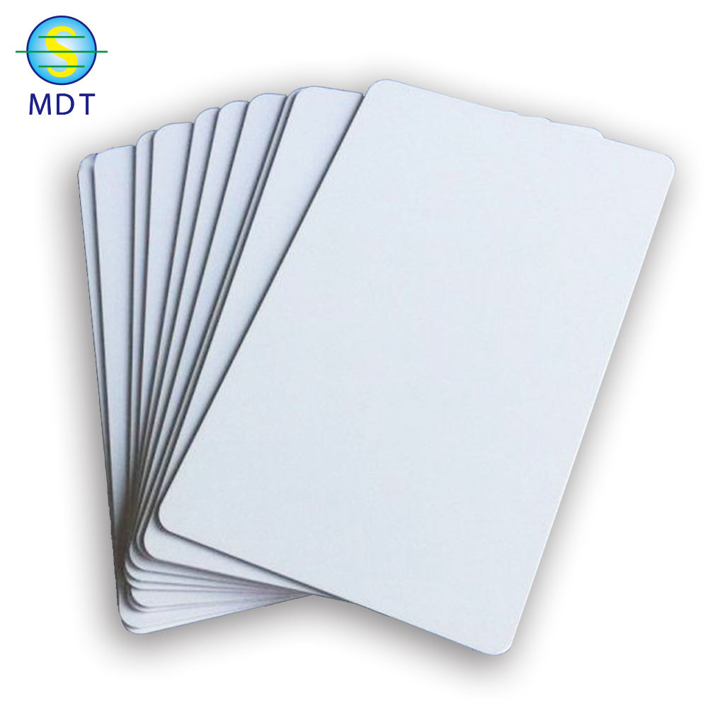 blank sublimation business card pvc material high quality