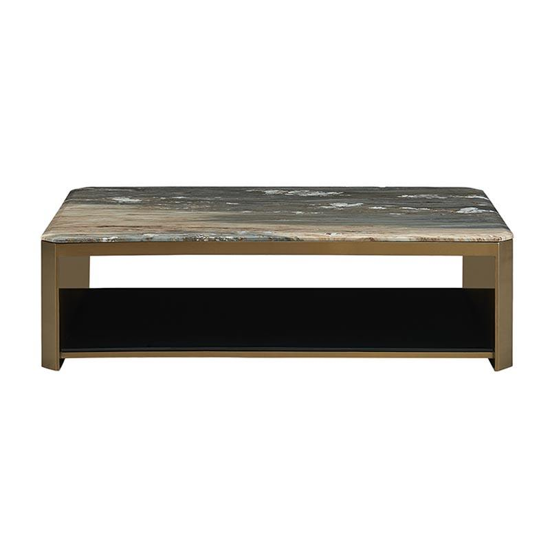 Bespoke Italy Marble Top Decorations Luxury Gold Comfortable American Coffee Table Square for Hotel