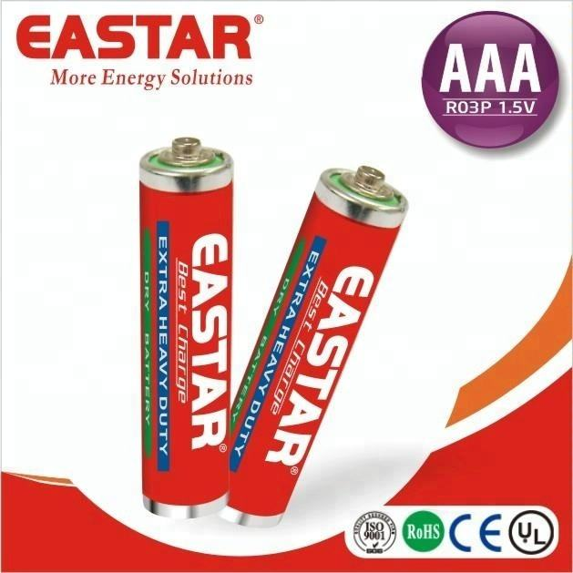 Factory price 1.5V R03P AAA UM4 Super heavy duty carbon zinc dry battery