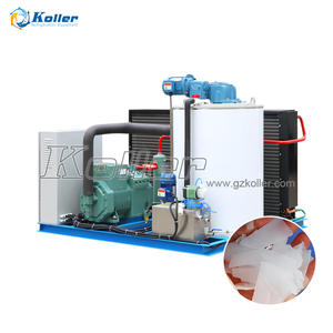 1t 2t 2000kg fresh water flake ice machine maker generator set for food processing