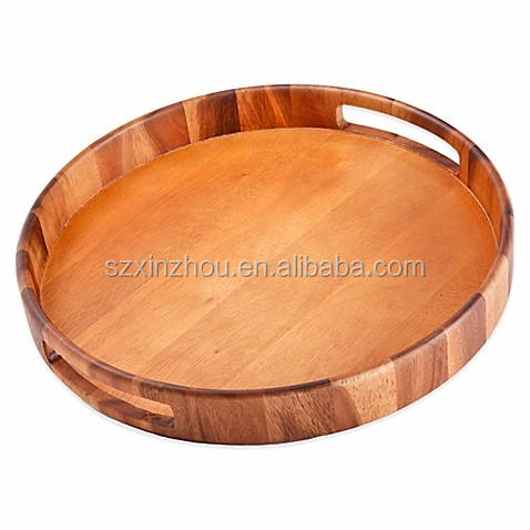 Newest Round Wood Tray