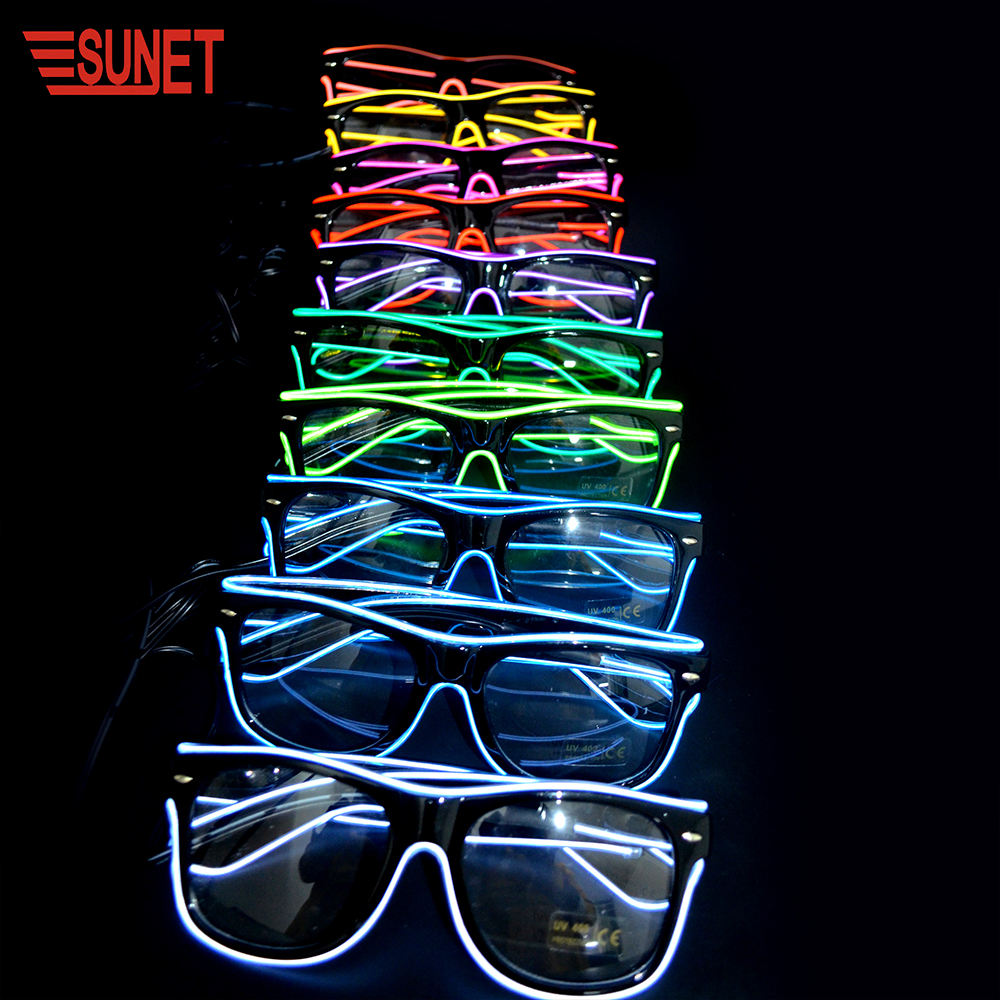 SUNJET 2020 Festival&Party Supplies Led EL Glasses Club Hot Selling Item Can Print Your Logo On The Frame