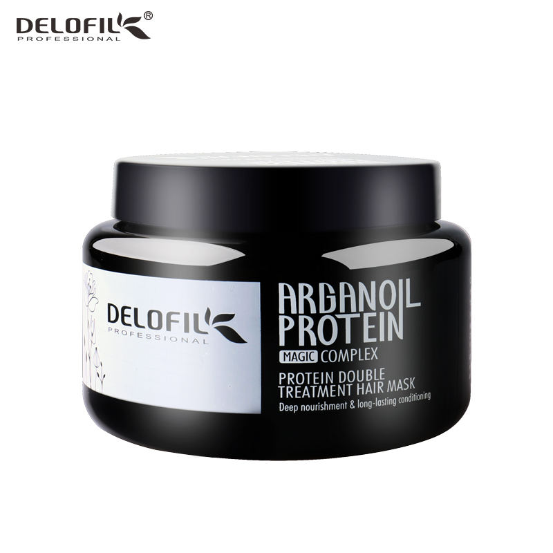 Delofil 500ml professional wholesale anti oil hair straightener hair mask