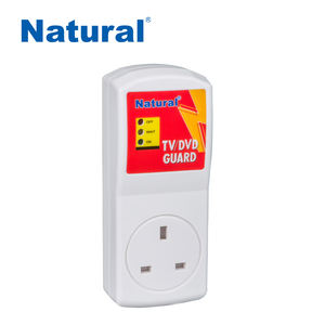 Natural AVS UK power socket voltage surge protection time delay