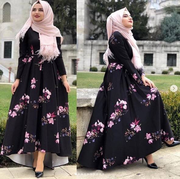 Fashion Design Long Sleeve Abaya Wholesale Kaftan Print Dress Abaya