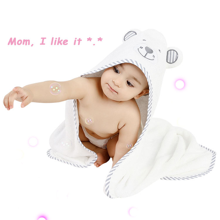 Bamboo Hoded Product Hooded Baby Towel Set With Bear Ear