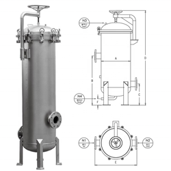 Factory directly sell industrial stainless steel 304/316L single bag filter housing for water treatment