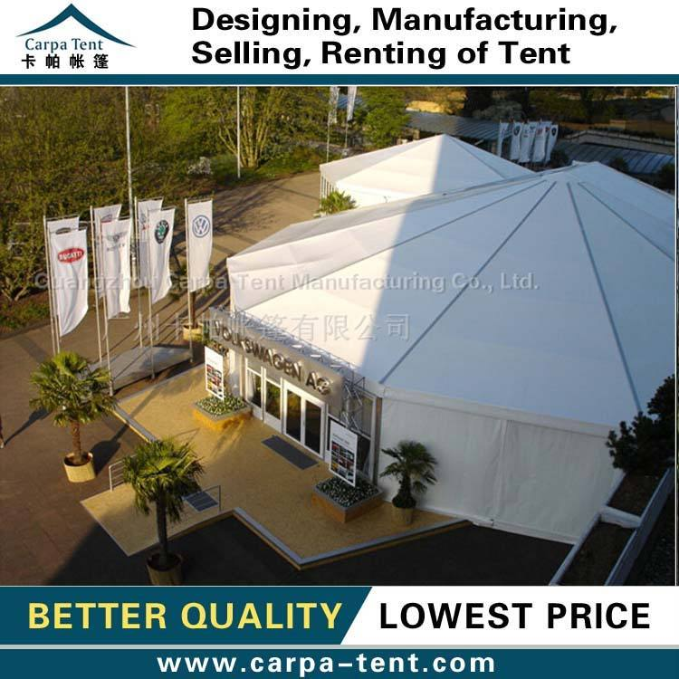 Chinese multi-sided tent with water proof pvc roof long term selling